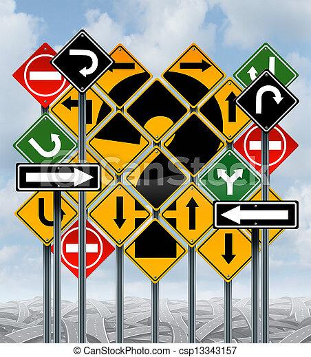 direção, escolhas - csp13343157