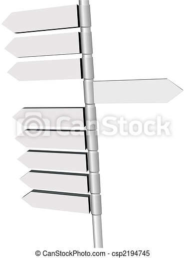 direção, ponto, sinal, igns, novo, poste, mudança - csp2194745