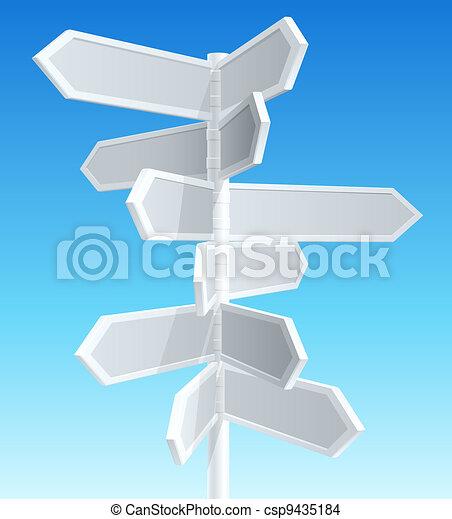 direção, sinais estrada - csp9435184