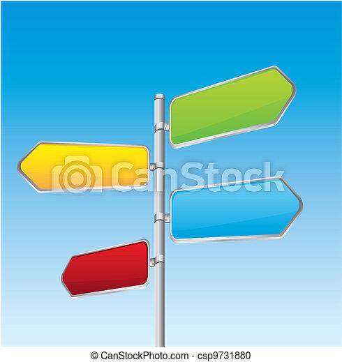 direção, sinal estrada - csp9731880