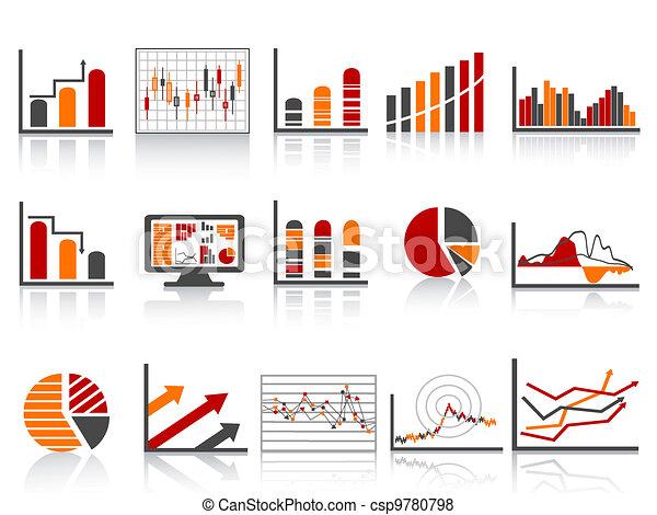 Simple manejo financiero de color informa icono - csp9780798