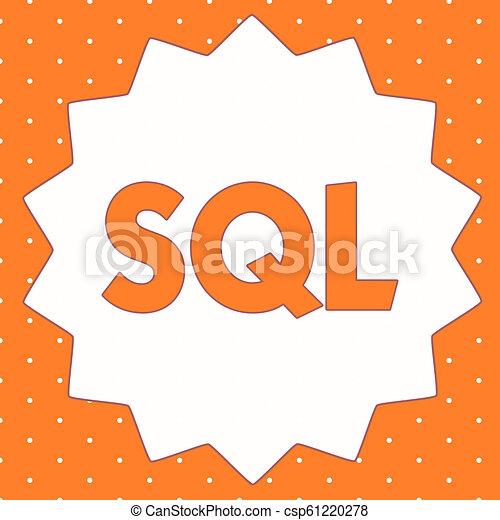 dirección, idioma, empresa / negocio, base de datos, foto, actuación, escritura, conceptual, computadora, sql., showcasing, relational, mano, estándar - csp61220278