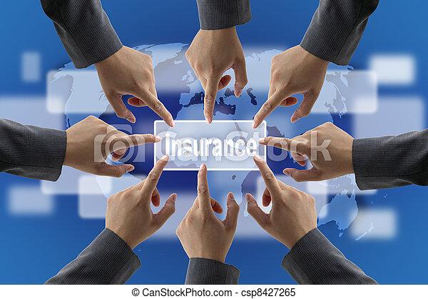 Equipo de manejo de riesgos de seguro - csp8427265