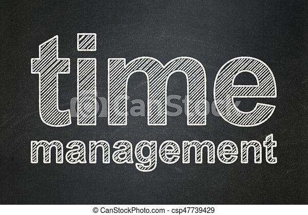 El concepto de la línea temporal: la gestión del tiempo en el fondo de pizarra - csp47739429