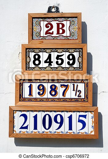 Números de dirección en venta - csp6706972