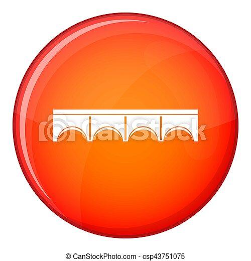 Direct bridge icon, flat style - csp43751075
