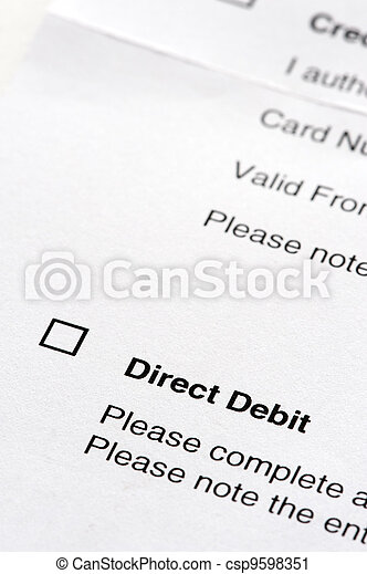 direct debit agreement form - csp9598351
