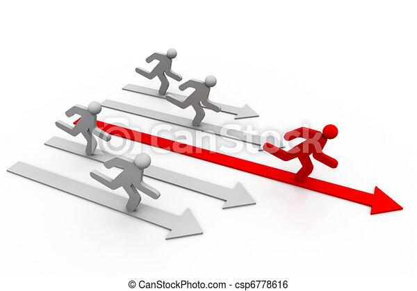 Direct road to success - csp6778616