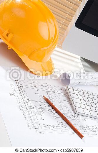 directeur, construction, bureau - csp5987659