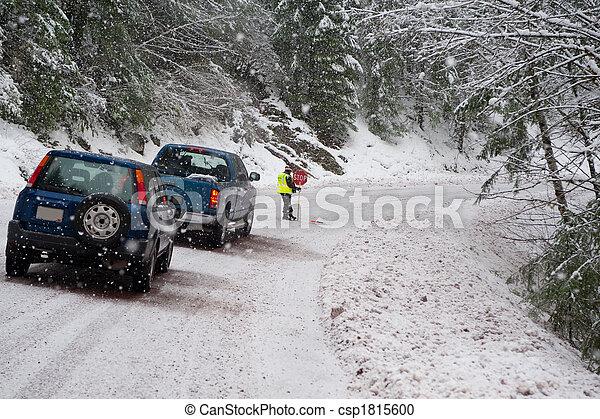 Directing traffic - csp1815600