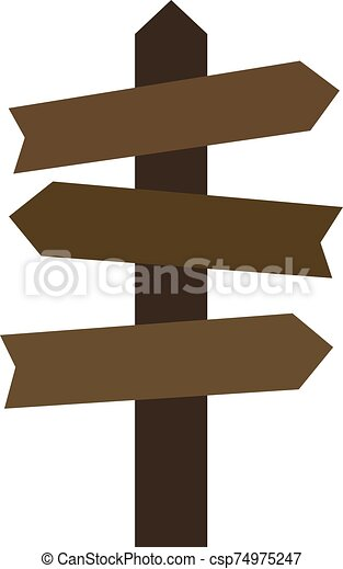 Direction arrows, illustration, vector on white background. - csp74975247