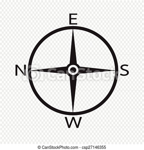 Direction Compass Icon Clipart Vector Search Illustration
