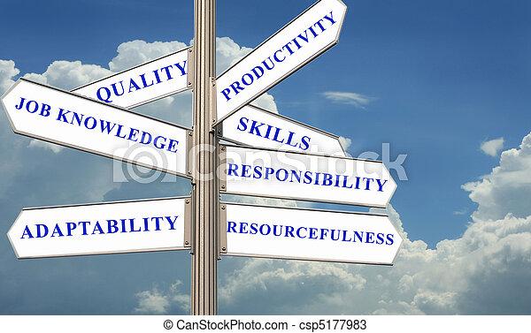 direction, concept, évaluation, rue - csp5177983
