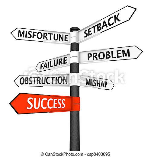 Direction of success - csp8403695