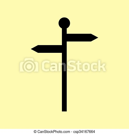 Direction road sign - csp34167664