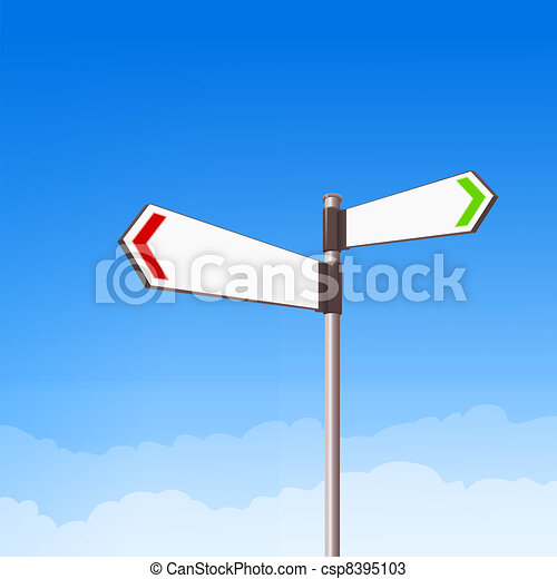 Direction Road Sign - csp8395103