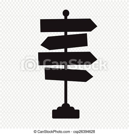 Direction road sign icon - csp26394628