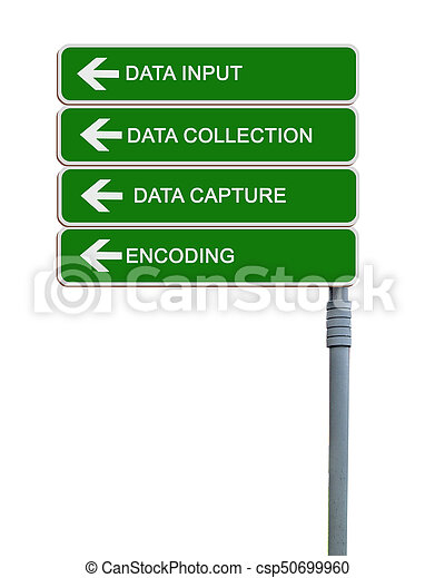 Direction road sign to data input - csp50699960