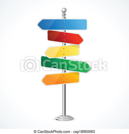 Direction road signs - csp18950063
