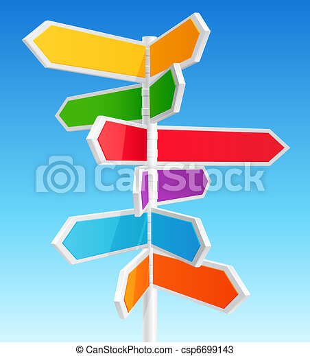 Direction road signs  - csp6699143
