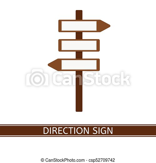 direction sign icon vector illustration of direction arrow sign