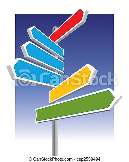 Direction signs - csp2539494
