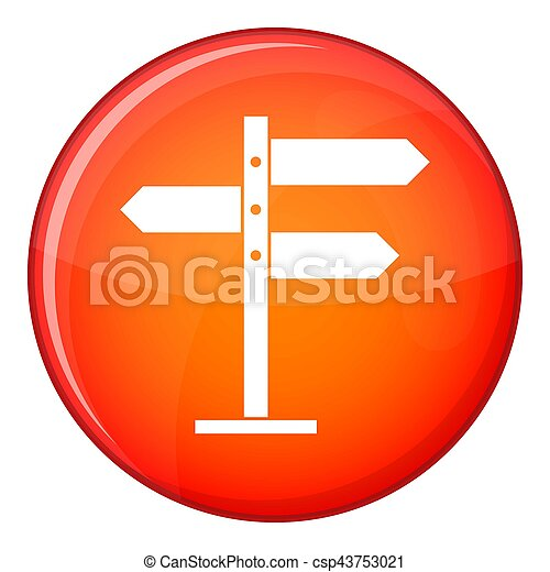 Direction signs icon, flat style - csp43753021