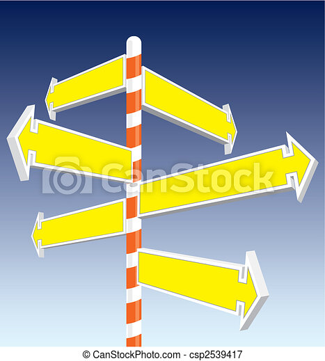 Direction signs - csp2539417