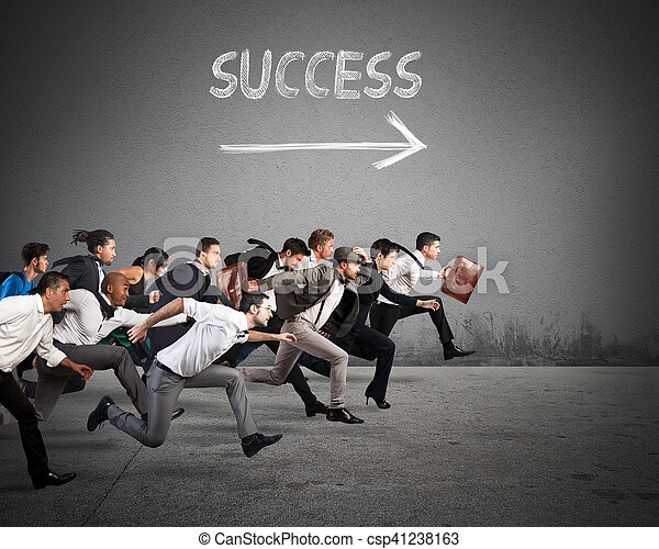 Direction success in business - csp41238163