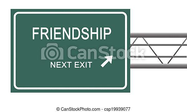 Direction to friendship - csp19939077
