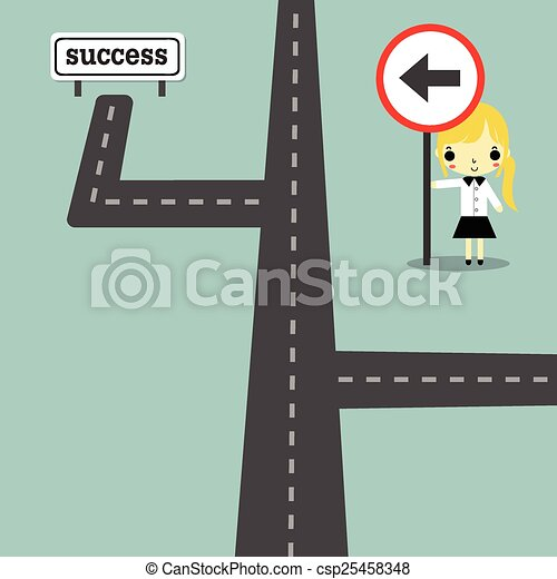 direction to success version2 - csp25458348