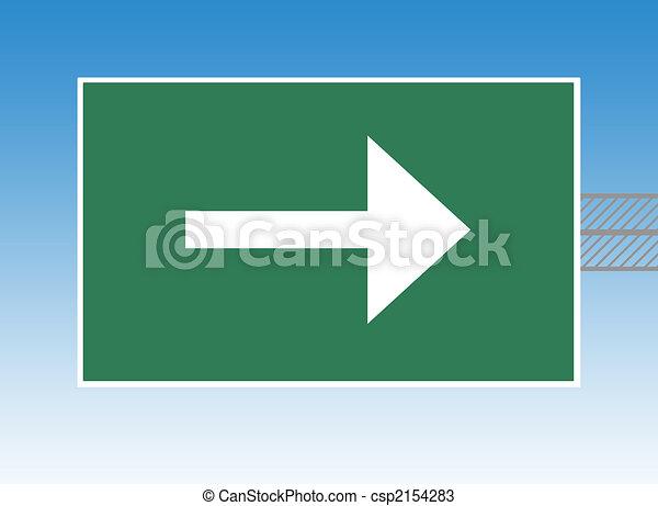 Directional highway sign - csp2154283