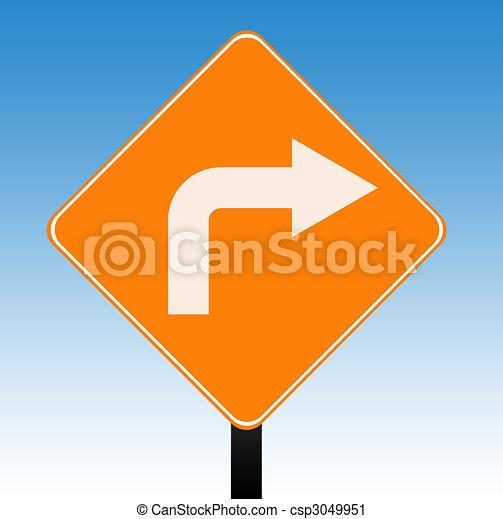 Directional sign - csp3049951