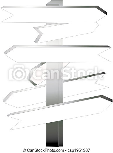 Directional signs.. decide which way to go... - csp1951387