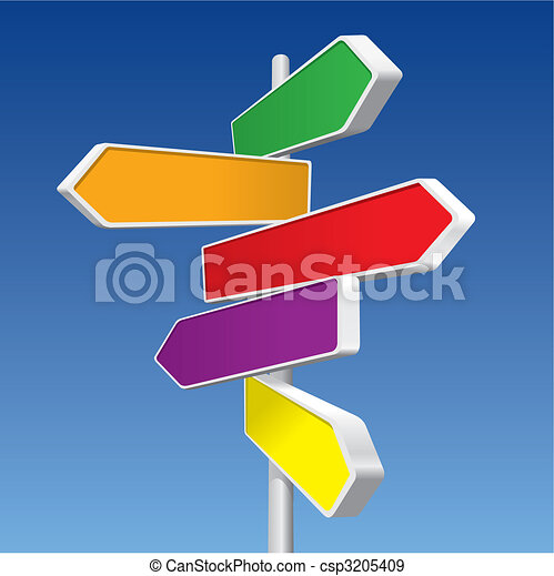 Directional Signs (vector) - csp3205409