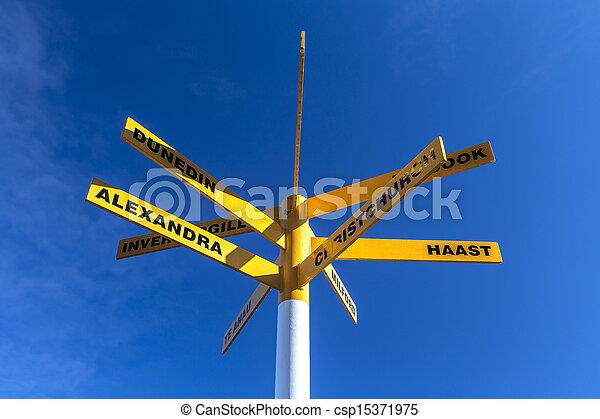 Directions road signpost - csp15371975