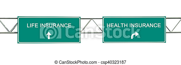 Directions to life and health insurance - csp40323187
