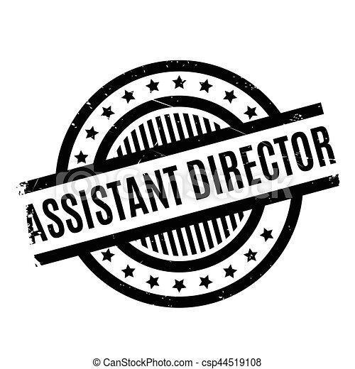 Asistente de dirección sello de goma - csp44519108