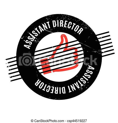 Asistente de dirección sello de goma - csp44519227