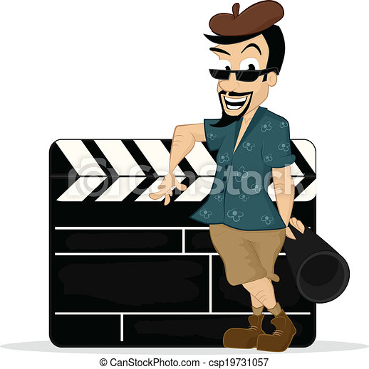 film director standing with clapboard vector cartoon clipart rh canstockphoto com director clipart images directory clip art
