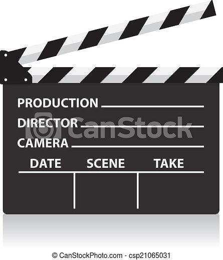 Bitácora del director de cine Vector - csp21065031