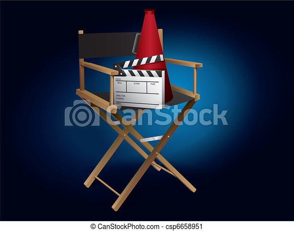 El director de cine - csp6658951