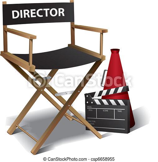 El director de cine - csp6658955