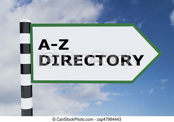 Un concepto de directorio A-Z - csp47994443