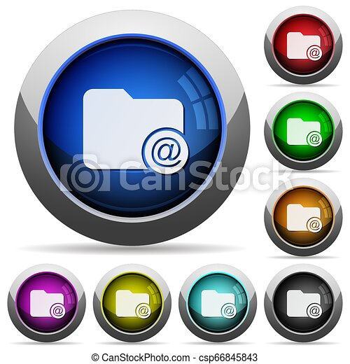 Directory email round glossy buttons - csp66845843