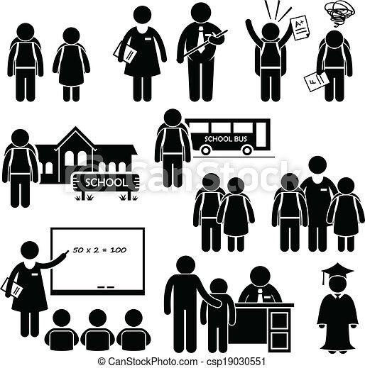 diretor, professor, estudante, escola - csp19030551