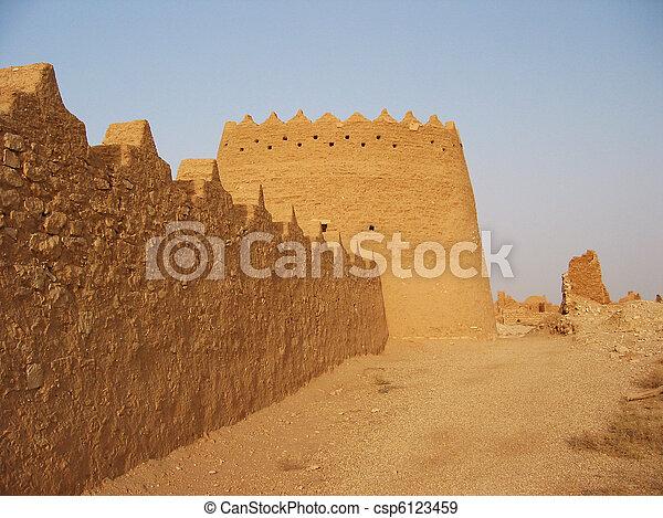 Diriyah clay fortress in Er Riyadh, Saudi Arabia - csp6123459