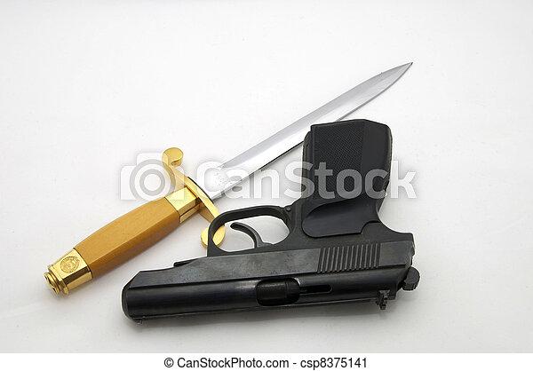 dirk and pistol - csp8375141