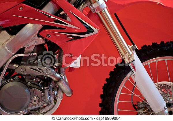 Dirt Bike Closeup - csp16969884