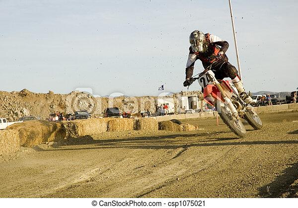 dirt bike racer - csp1075021